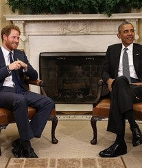 Príncipe Harry encontra-se com Obama