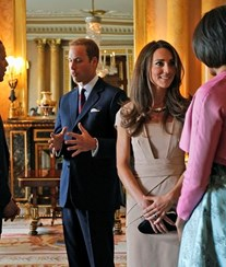William e Kate recebem casal Obama