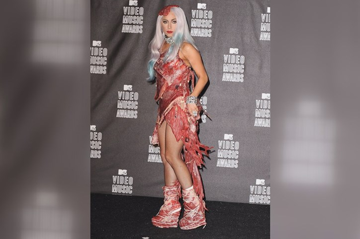 Lady Gaga na cerimónia dos MTV Video Music Awards 2010