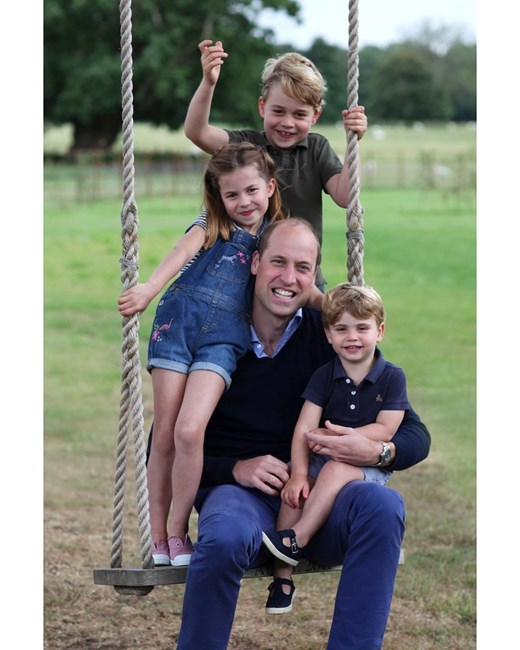 Príncipe William com os filhos