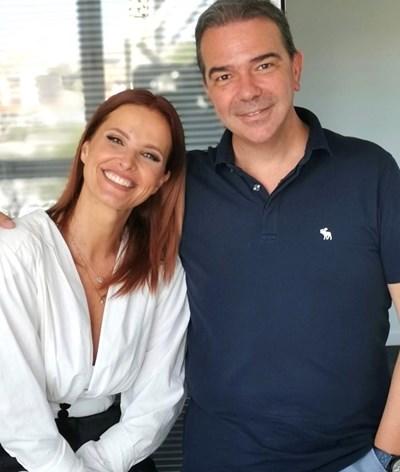 Cristina Ferreira visita elenco de novela antes de partir de férias